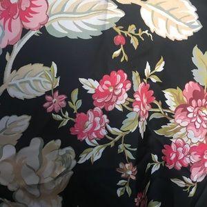 Full Tilt Jackets & Coats - Silk floral zip up jacket